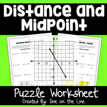 Distance and Midpoint  - Puzzle Worksheet