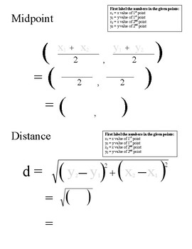 Midpoint Distance Templates (PDF)