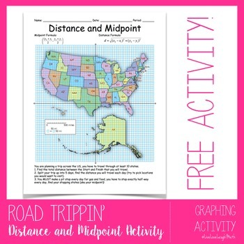Distance and Midpoint: Travel the US
