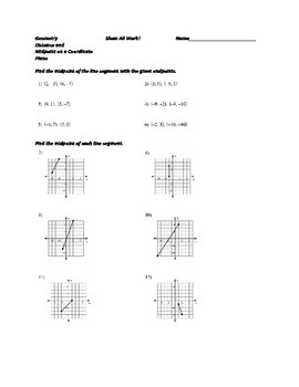 Distance and Midpoint on a Coordinate Plane