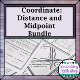 Distance and Midpoint on the Coordinate Plane Review, Riddle, Task Card BUNDLE!