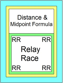 Distance and Midpoint Formulas - RELAY RACE Game (8 rounds of 4 problems)