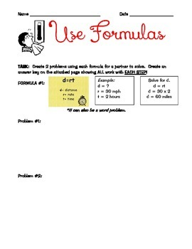 Distance and Temperature Formulas