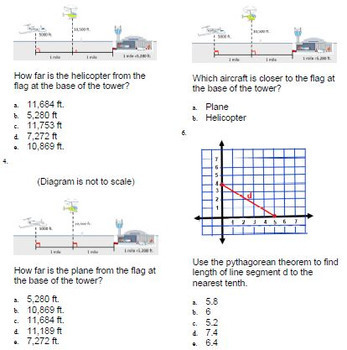 Distance between Points Pythagorean Theorem Question Test Bank for ExamView