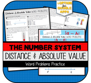 Distance between Two Rational Numbers (using Absolute Value) Practice