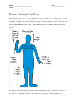 Distance between two points, High school math
