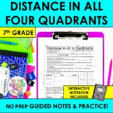 Distance in Coordinate Plane Notes