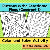 Distance in the Coordinate Plane Color and Solve