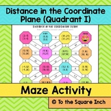 Distance in the Coordinate Plane Maze