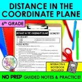 Distance in the Coordinate Plane Notes