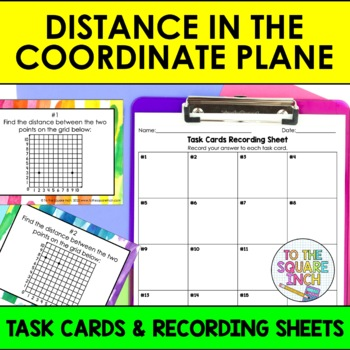 Distance in the Coordinate Plane Task Cards