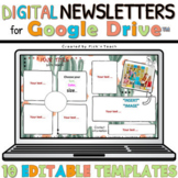 Distance learning 10 EDITABLE classroom NEWSLETTERS GOOGLE DRIVE™ Cactus