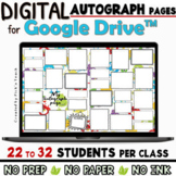 Distance learning 11 editable AUTOGRAPH pages for Google D
