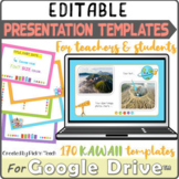 Distance learning 170 KAWAII EDITABLE presentation templat
