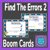 BOOM Cards Find The Errors 2