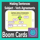 BOOM Cards Making Sentences Subject Verb Agreements