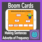 BOOM Cards Making Sentences with Adverbs Of Frequency