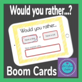 BOOM Cards Would you rather...? Game