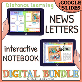 Distance learning BUNDLE: Newsletters + 10 tabs NOTEBOOK for students & teachers