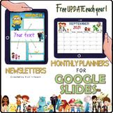 Distance learning BUNDLE monthly planners & newsletters kids' favorites