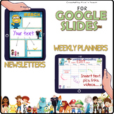 Distance learning BUNDLE weekly planners & newsletters kids' favorites