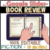 DIGITAL book review for Google Slides™ 100% EDITABLE / TAB