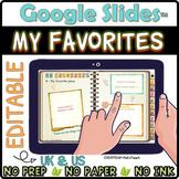 "Distance learning DIGITAL notebook ""My favorites"" for Goog"
