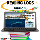 Distance learning Digital Reading Logs | January| Interactive