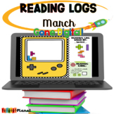 Distance learning Digital Reading Logs | March | St. Patri