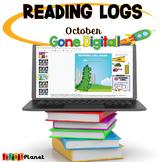 Distance learning Digital Reading Logs | October | Halloween
