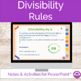 Math Divisibility Rules Notes and Activities
