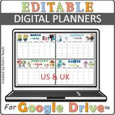 Distance learning EDITABLE PLANNER 2020-2021 Google Slides