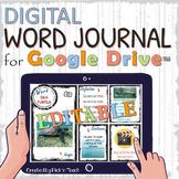 Distance learning EDITABLE digital WORD JOURNAL for Google