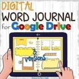 Distance learning EDITABLE digital WORD JOURNAL / vocabula