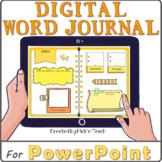 Distance learning EDITABLE digital WORD JOURNAL / vocabula