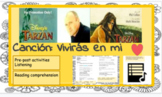 Distance learning Spanish song: Vivirás en mi   ❤️ (future tense)