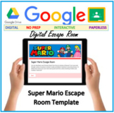 Distance learning - Super Mario Escape Room Template - Google forms DIGITAL