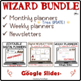 Distance learning WIZARD BUNDLE for Google Slides™ planners & newsletters