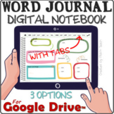 Distance learning WORD JOURNAL / vocabulary digital notebo