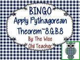 Distance on Coordinate Grid Using Pythagorean Theorem Bingo 8.G.B.8