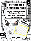 Distance on a Coordinate Plane: Hacker Connection (Notes & Project)