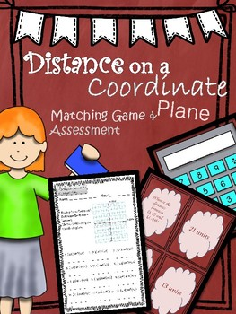 Distance on a Coordinate Plane Matching and Assessment