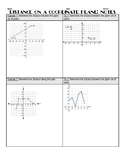 Distance on a Coordinate Plane Notes