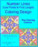 DISTANCE:  ON A NUMBER LINE - COLORING ACTIVITY