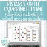 Distance on the Coordinate Plane DIGITAL Activity for Goog