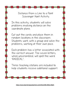 Distance on the Coordinate Plane - Flipped Lesson and Materials