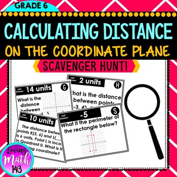 Distance on the Coordinate Plane using Absolute Value  - Math Scavenger Hunt