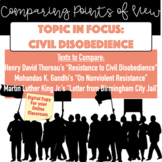 Distance or In-Person: Civil Disobedience-Comparing Points