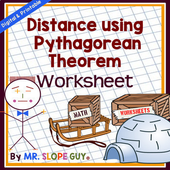 Pythagorean Theorem Activity (Finding Distance) Worksheet