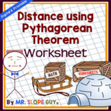 Pythagorean Theorem Activity (Finding Distance) Worksheet